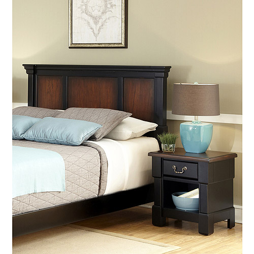 Home Styles The Aspen Collection King/California King Headboard and Night Stand, Rustic Cherry/Black