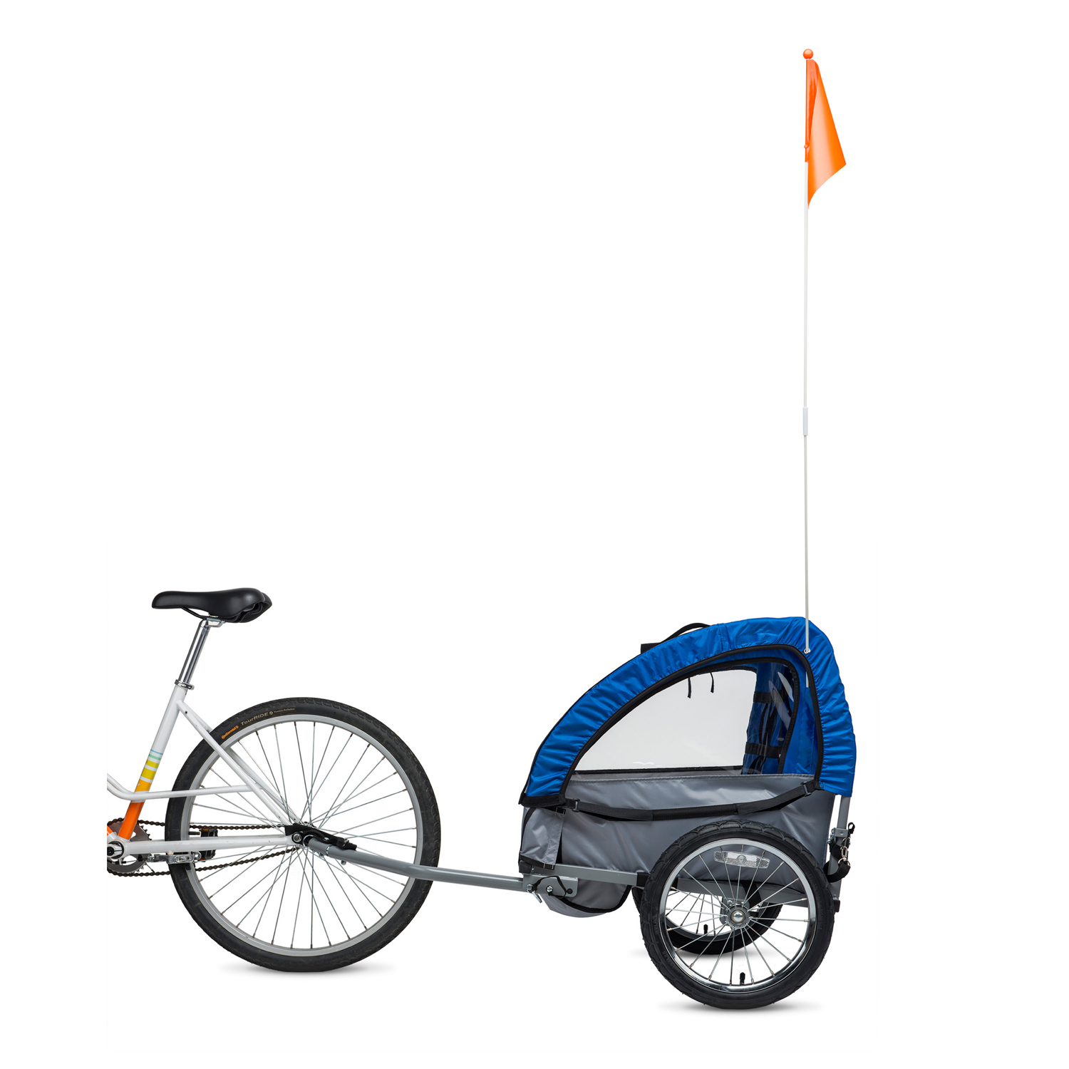 Bell Sports Wallaby Child Bicycle Trailer, Blue/Gray - Walmart.com