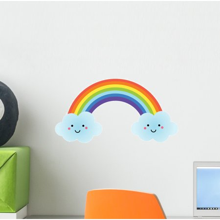 Cute Kawaii Rainbow Wall Decal Wallmonkeys Peel and Stick Decals for Girls (12 in H x 12 in W) WM502575