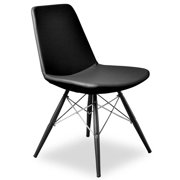 Contemporary Side Chair in Black - Set of 2