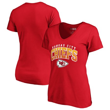 - Women's Fanatics Branded Red Kansas City Chiefs Faded Arch V-Neck T-Shirt