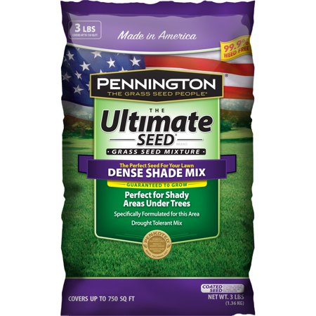 Pennington Ultimate Dense Shade Mix Grass Seed, 3 lb bag