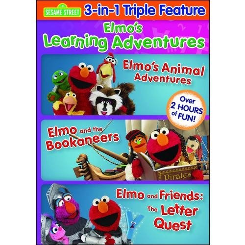 Elmo's Learning Adventures Triple Feature: Elmo's Animal Adventures / Elmo And The Bookaneers / The Letter Quest (Full Frame)