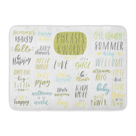 GODPOK Cute Summer Kids Lettering in Yellow and Green Colors Cartoon Text  Phrases and Quotes for Children Party Rug Doormat Bath Mat 23 6x15 7 inch
