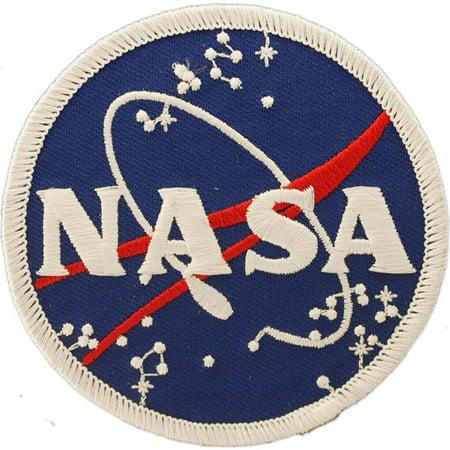 NASA Logo Patch Blue & White 3