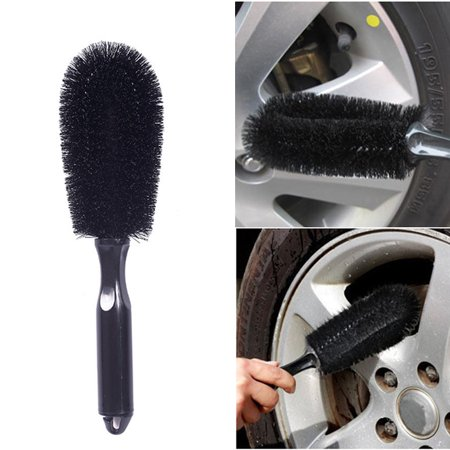 Universal Car Wheel Rims Tire Washing Handle Brush Auto Cleaning Tool House Carpet Cleaner ()