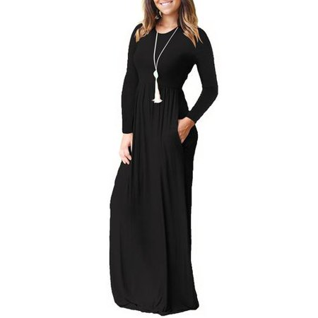 Noroomaknet Womens Long Maxi Dreses, Casual Dresses for Women Loose Long Sleeve Dresses Autumn/Fall and Winter Dresses