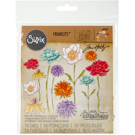 Sizzix Framelits Dies By Tim Holtz Flower Garden & Mini Bouquet](Tim Holtz Halloween Dies)