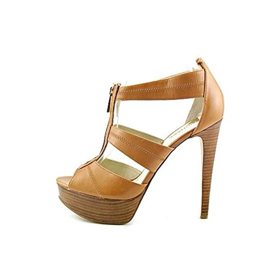 af4696fed56a Michael Kors - Michael Kors Women s Berkley Leather Platform Sandals -  Walmart.com