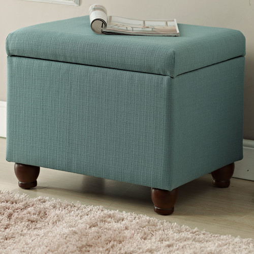 HomePop Upholstered Storage Cube Ottoman