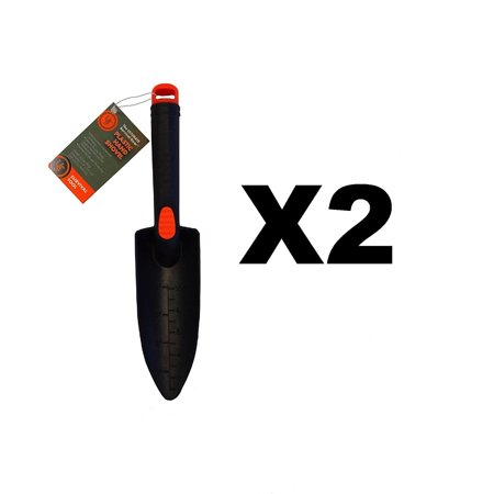 Plastic Shovel Black Camping/Garden (2-Pack), Ideal for burying waste, digging trenches, and trail maintenance By Ultimate Survival (Waste Shovel)