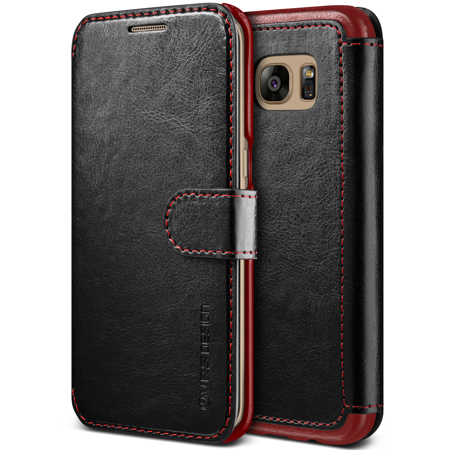 Samsung Galaxy S7 Edge Case Cover   Premium PU Leather Wallet with Card Slots   VRS Design Layered Dandy for Samsung Galaxy S7 Edge