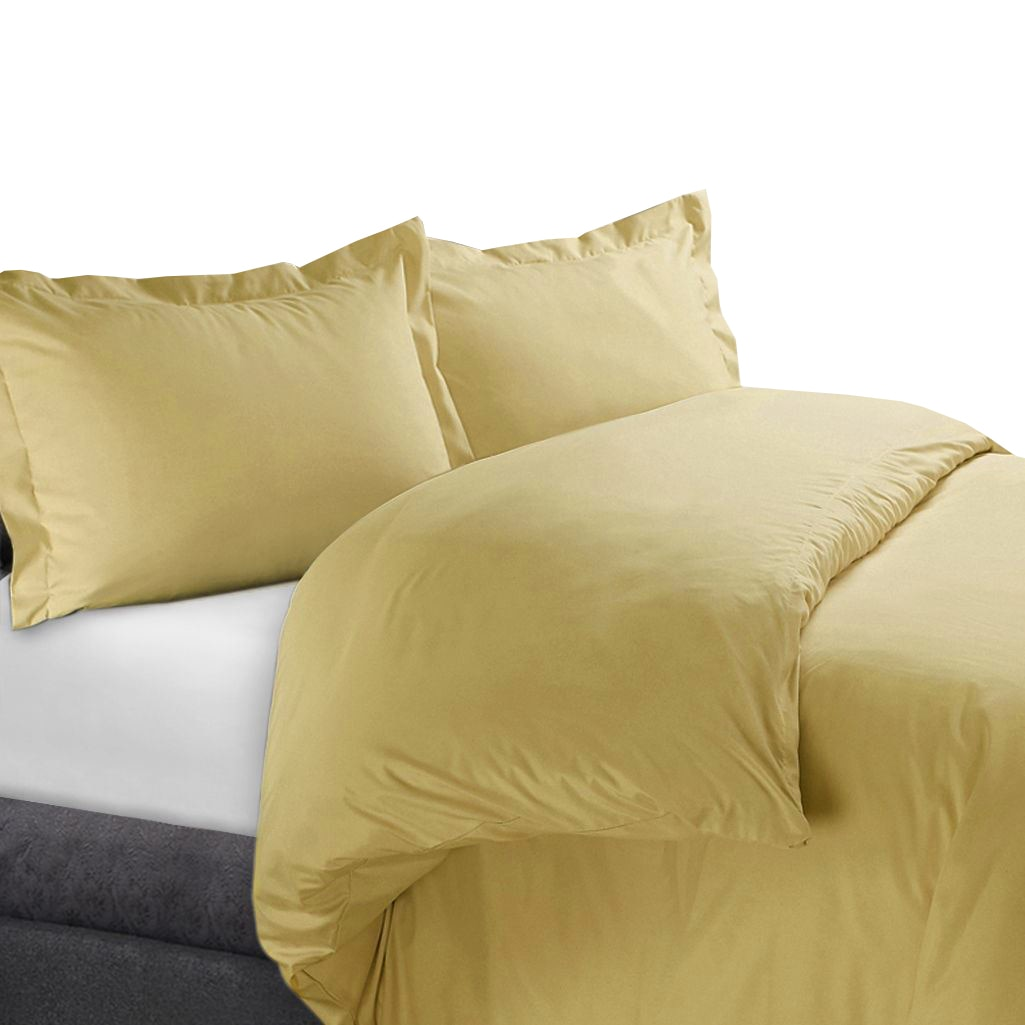 100% Cotton Duvet Cover Sets 300 Thread Count Solid - Twin/Twin XL - White