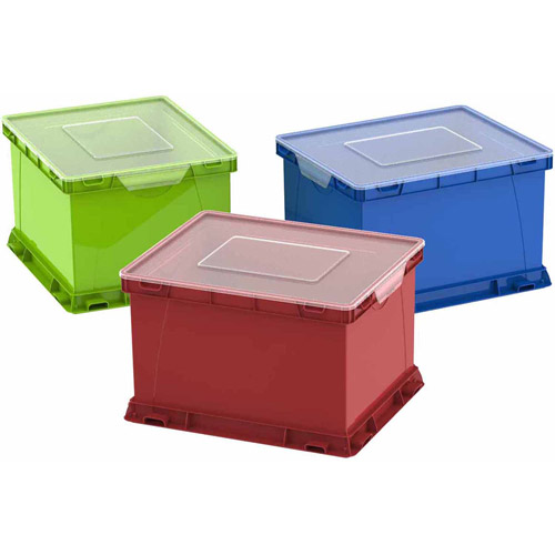Storex Storage And Filing Cubes, Case Of 3