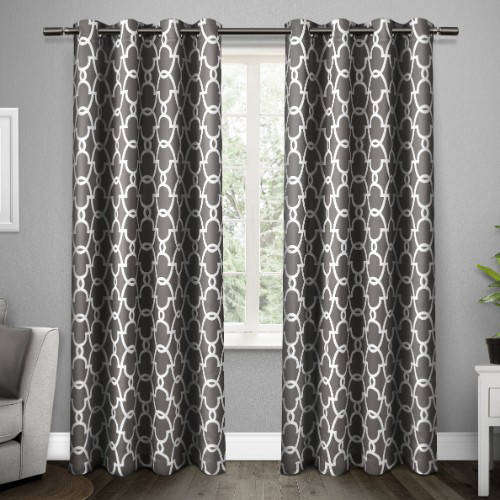 Exclusive Home Gates Sateen Blackout Thermal Window Curtain Panel Pair with Grommet Top