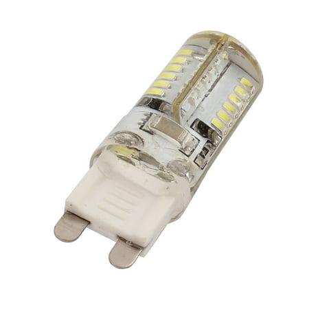 AC 220V 3W G9 3014SMD LED Corn Light Bulb 58-LED Silicone Lamp Neutral White - image 2 of 2