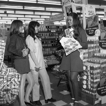 Miss Great Britain at Asda for a Promotion of Lux Soap, Rotherham, South Yorkshire, 1972 Print Wall Art By Michael - Great Promotion