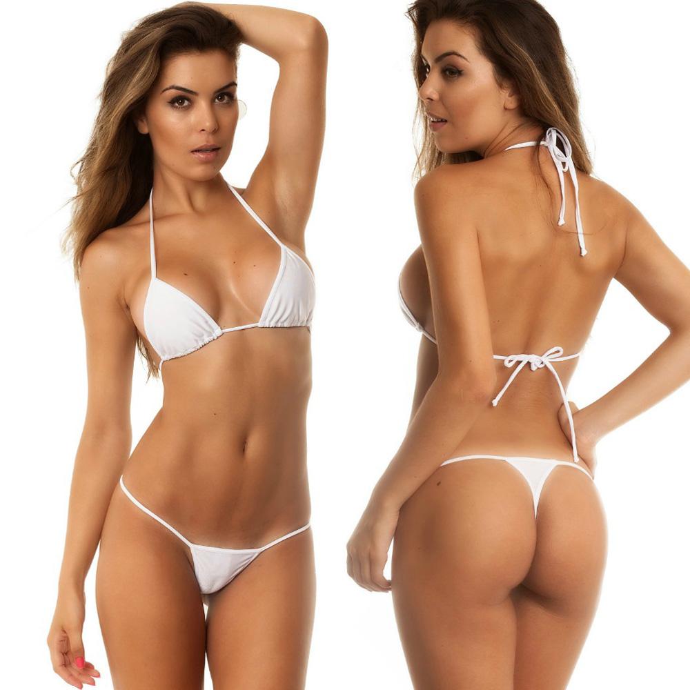 Women/'s Micro Thong G string Mini Top Bra Bottom Bikini Swimwear Swim suit