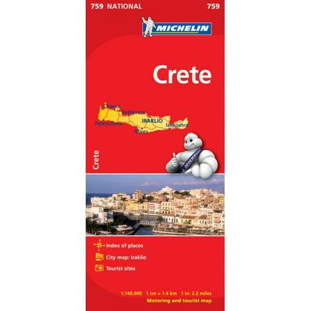 Crete NATIONAL Map (Michelin National Maps) (Ridgedale Map)