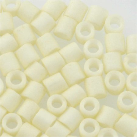 Miyuki Delica Seed Bead 8/0 Matte Opaque Glazed Luster Ivory (9 Grams)
