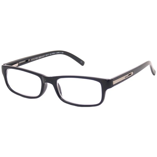 Foster Grant Men's Reading Glasses, Brandon Black