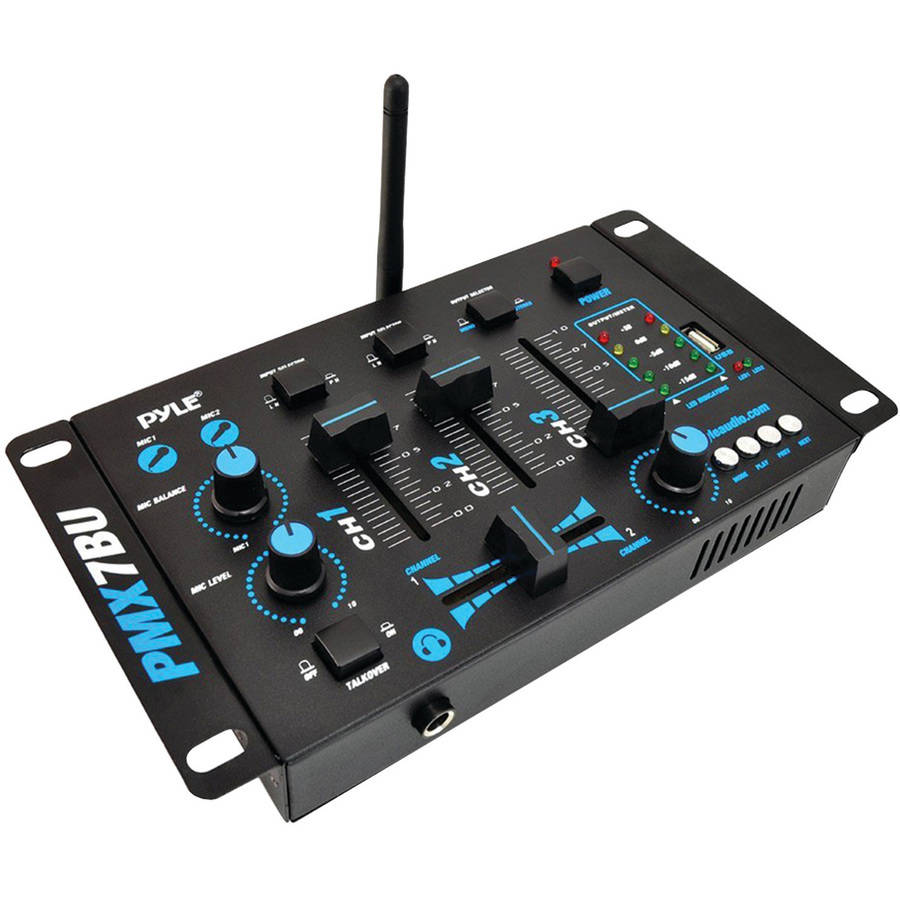 Pyle Pro PMX7BU 3-Channel Bluetooth DJ Mixer