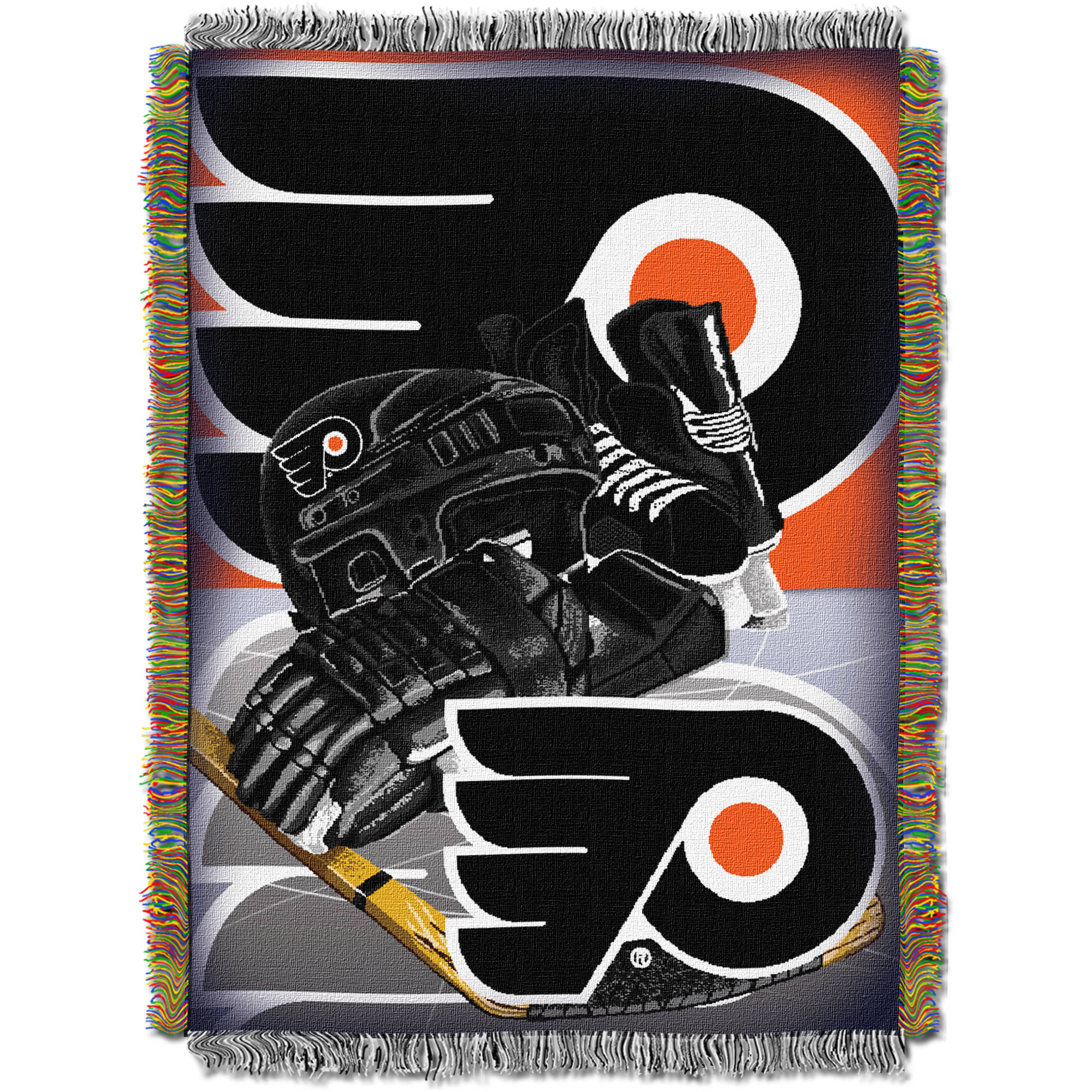 "NHL 48"" x 60"" Home Ice Advantage Series Tapestry Throw, Flyers"