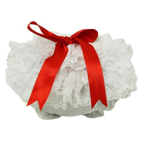 Baby Girls White Lace Cotton Adorable Bloomers 0-24 Months