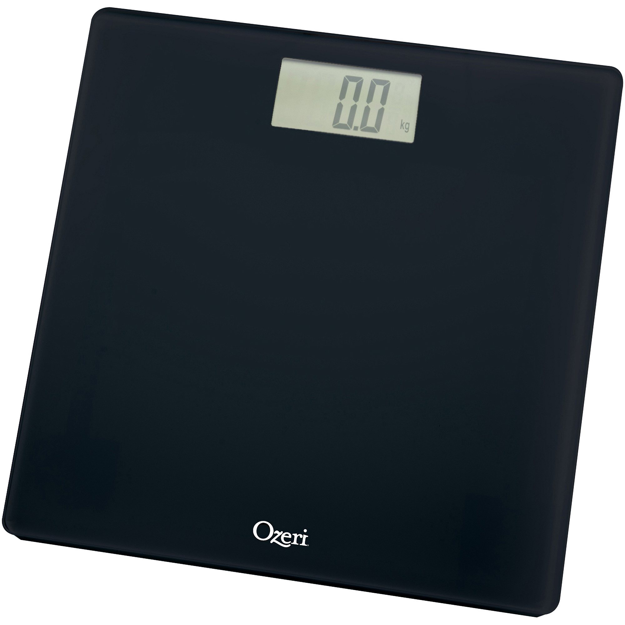 Bathroom scales boots - Ozeri Precision Digital Bath Scale 400 Lbs Edition In Tempered Glass With Step On Activation Black Walmart Com