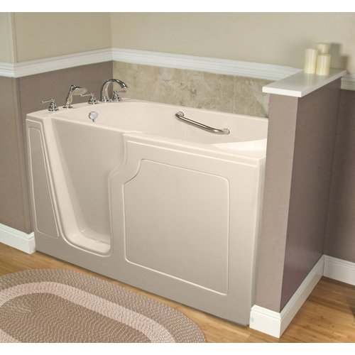 A+ Walk-In Tubs Dignity 48'' x 28'' Whirlpool Jetted Walk-In Bathtub