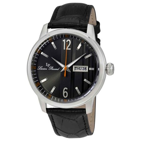 40027-01 Milanese Black Genuine Leather And Dial Ss Watch (Mens 80er Jahre Sonnenbrille)