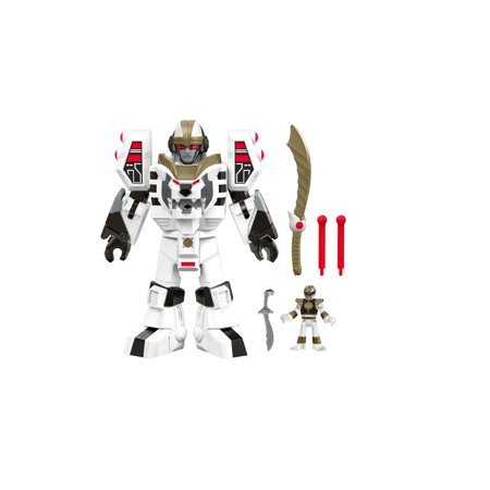 Fisher-Price Imaginext Power Rangers White Ranger & Warrior Mode Tigerzord (Power Rangers Jungle Fury Mask)