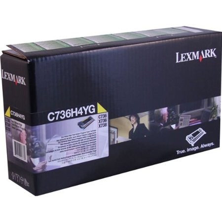 Lexmark C736H4YG C736 Yellow Laser High Yield Return Program Print Cartridge, 10k Pages ()