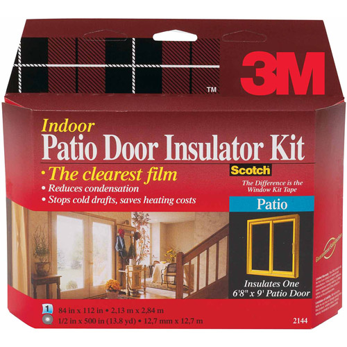 3M Indoor Window Insulator Kit, Patio Door