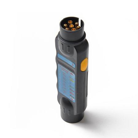 Diagnostic Tool 7 Pin Vehicle Car Trailer Wiring Tester Circuit Plug Socket Tester - image 4 de 7