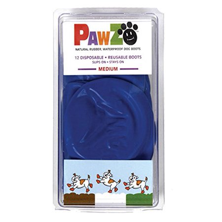 Pawz Blue Water-Proof Dog Boot, Medium, Up to