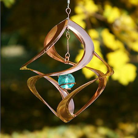 Copper Single Planet Wind Sculpture Spinner Copper Wind Sculpture