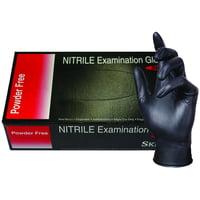 Skintx Medical Grade Nitrile Disposable Gloves, BLK50015-L-BX, Black, (Pack of 100)