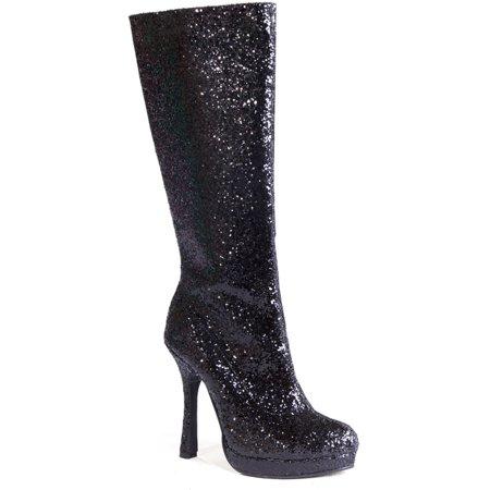 894012905573 Ellie - 4 Inch Glitter Go Go Boots Platform Chunky Heel Sexy Glamour Boots  - Walmart.com
