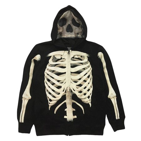 Extreme Concepts Little Boys Black Skeleton Graphic Halloween Hoodie - Extreme Contouring Halloween