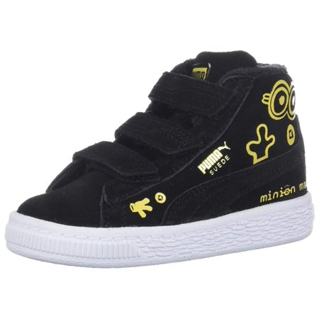 big sale c4f95 3cea3 Kids Puma Boys Minions Toddler Suede Mid Top Fashion Sneaker