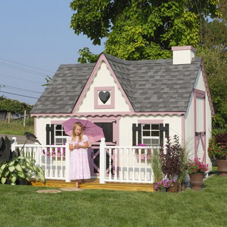 Victorian Cottage Gardens - Little Cottage Victorian 8 x 8 ft. Wood Playhouse