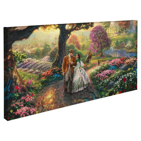 "Thomas Kinkade Gone with the Wind – 16"" x 31"" Gallery Wrapped Canvas"