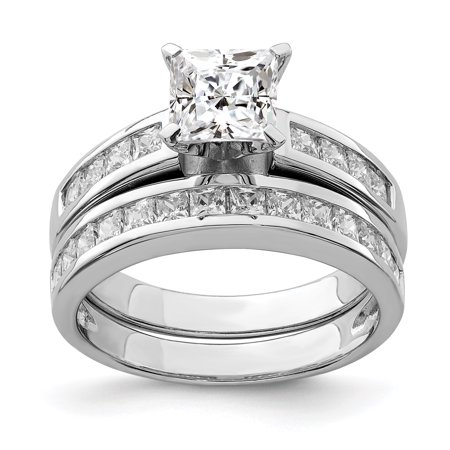 Ice Carats Designer Jewelry Gift Usa 925 Sterling Silver 2 Piece