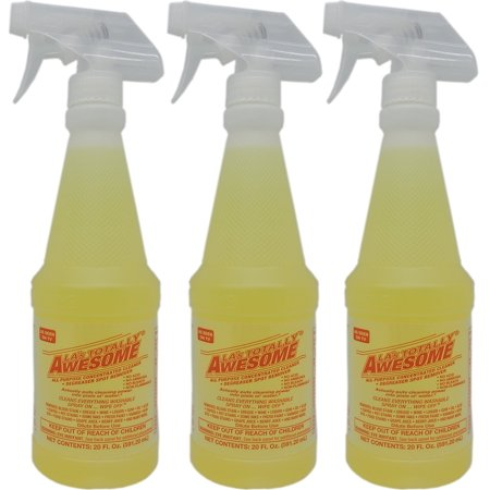 LA's Totally Awesome All Purpose Cleaner, Degreaser Spot Remover - 3 bottles of 20 fl oz each (Las Totally Awesome Orange All Purpose Degreaser)