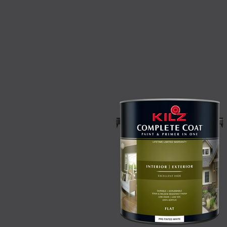 KILZ COMPLETE COAT Interior/Exterior Paint & Primer in One #RM220 Licorice