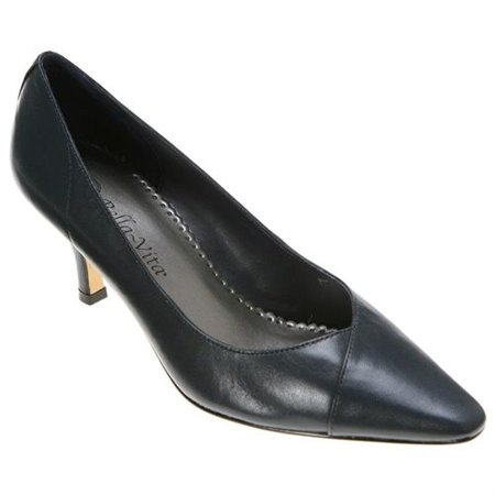 Bella Vita Womens Wow Leather Pointed Toe Classic (Bella Black Leather)