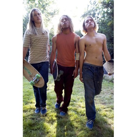 Emile Hirsch and Victor Rasuk and John Robinson in Lords of Dogtown bare chested holding skate boards 24x36 Poster (Lords Of Dogtown Movie Poster)