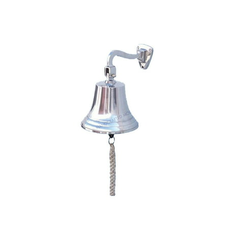 Chrome Hanging Ship's Bell 11