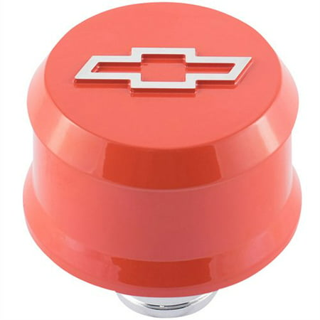 Proform 141-859 Chevy Bow Tie Valve Cover Air Breather Cap Chevy Orange